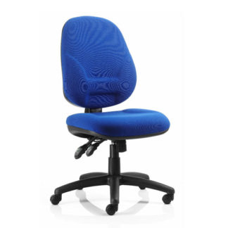 An Image of Eclipse Plus XL Office Chair In Blue No Arms