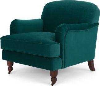 An Image of Orson Small Armchair, Velvet Seafoam Blue