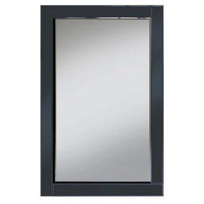 An Image of Bevel 120x80 Wall Mirror In Smoke Grey Glass Border