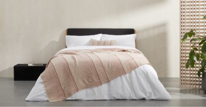 An Image of Tallis Organic Cotton Bed Throw 150 x 200cm, Terracotta