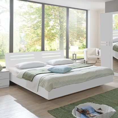 An Image of Susan Wooden Small Double Bed In White