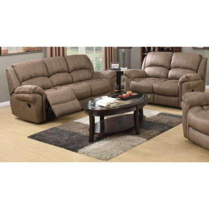 An Image of Lerna Fabric 3 Seater Sofa And 2 Seater Sofa Suite In Taupe
