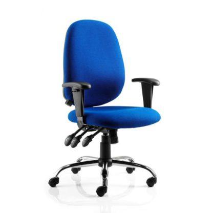 An Image of Lisbon Blue Office Chair