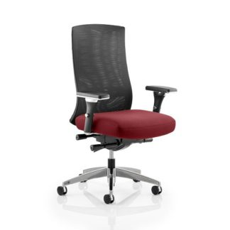 An Image of Scarlet Home Office Chair In Chilli With Castors