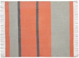 An Image of Auburn Throw, 130 x 170cm, Orange & Grey