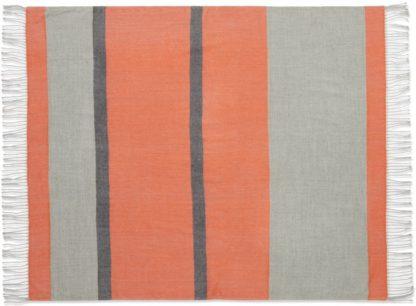 An Image of Auburn Throw, 130 x 170cm, Orange & Grey