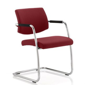 An Image of Marisa Office Chair In Chilli With Cantilever Frame