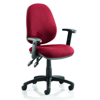 An Image of Luna II Office Chair In Bergamot Cherry With Arms