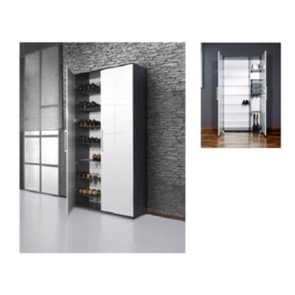An Image of Scarpa Shoe Cupboard In White And Antracite