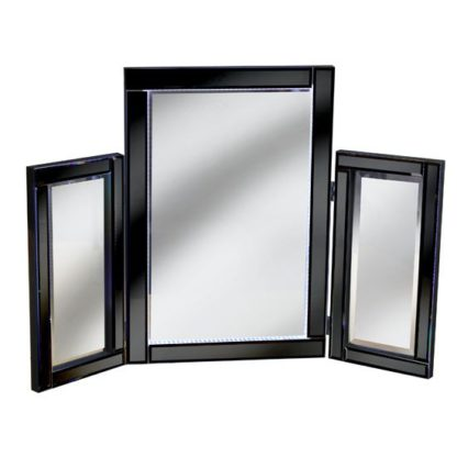 An Image of Bevelle Black Dressing Table Mirror