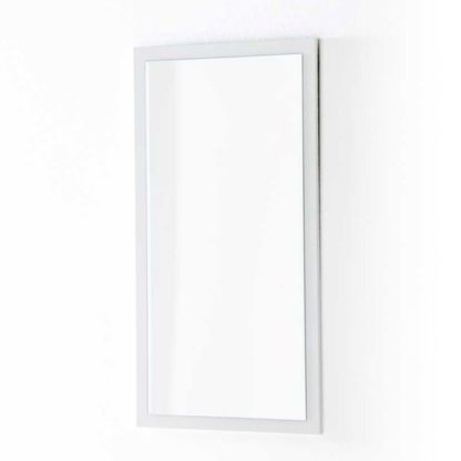 An Image of Sydney Wall Mirror On A High Gloss White Wall Mount