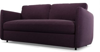 An Image of Custom MADE Fletcher 3 Seater Sofabed with Memory Foam Mattress, Malbec