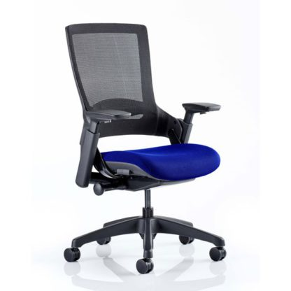 An Image of Molet Black Back Office Chair With Stevia Blue Seat