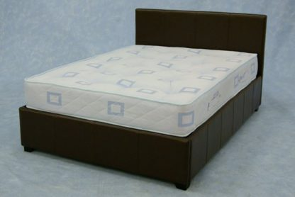 An Image of Prado Plus 4ft 6 Expresso Brown Double Bed With Gas Lift