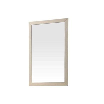 An Image of Canaria Bedroom Wall Mirror In Cream Walnut High Gloss