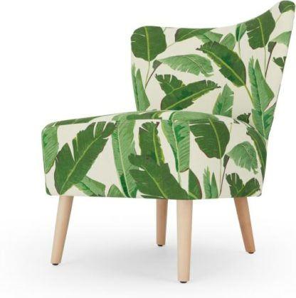 An Image of Charley Accent Armchair, Leaf Print