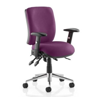 An Image of Chiro Medium Back Office Chair In Tansy Purple With Arms