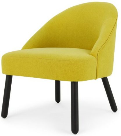 An Image of MADE Essentials Nial Accent Armchair, Chartreuse