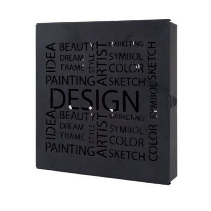An Image of Pop Black Finish Metal Key Box