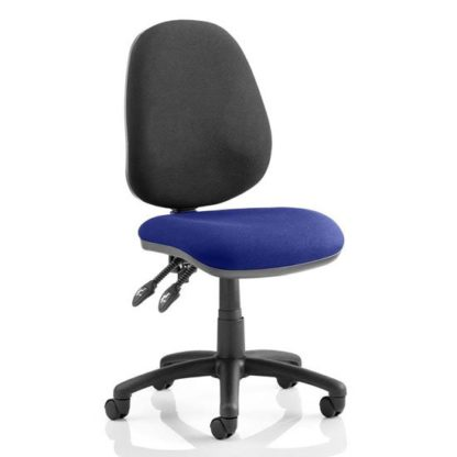An Image of Luna II Black Back Office Chair In Stevia Blue