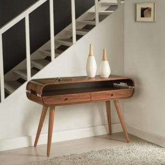 An Image of Marin Console Table In Walnut With Solid Ash Spindle Shape Legs