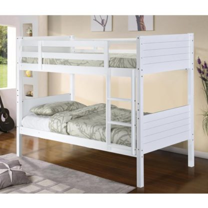 An Image of Castleton Wooden Bunk Bed In White