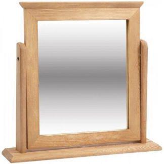 An Image of Corina Single Mirror In Antique Wax Finish