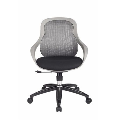 An Image of Melvina Fabric Office Chair In Grey