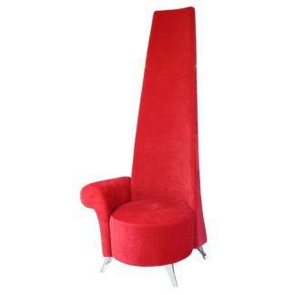 An Image of Adalyn Right Handed Potenza Chair In Red Fabric With Chrome Legs