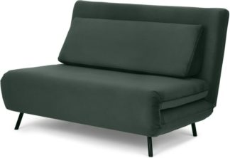 An Image of Kahlo Double Seat Sofa Bed, Autumn Green Velvet