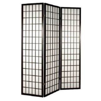 An Image of Foldable Wooden Room Divider Screen In Black