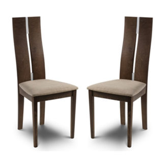An Image of Cayman Solid Beech Dining Chair In Pair
