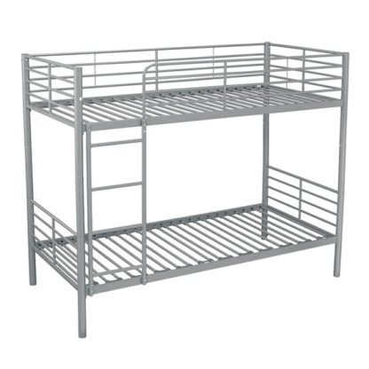 An Image of Apollo Metal Bunk Bed In Silver