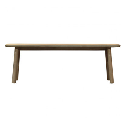 An Image of Kingham Wooden Dining Bench In Oak