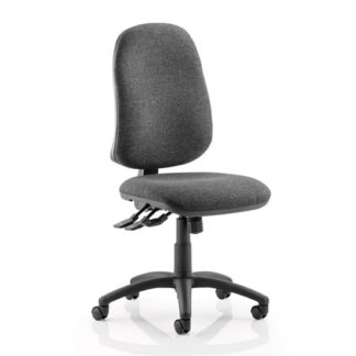 An Image of Eclipse Plus XL Office Chair In Charcoal No Arms