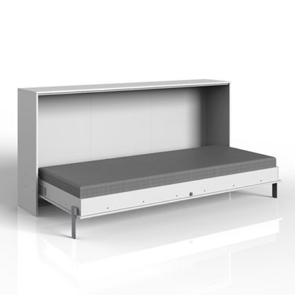 An Image of Juist Wooden Horizontal Foldaway Single Bed In White