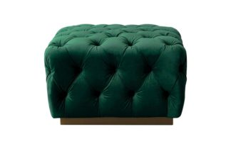 An Image of Frankfurt Footstool – Bottle Green