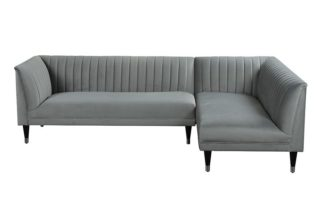 An Image of Baxter Right Hand Corner Sofa – Dove Grey