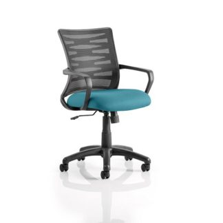 An Image of Eclipse Home Office Chair In Kingfisher With Castors