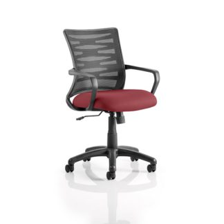 An Image of Eclipse Home Office Chair In Chilli With Castors