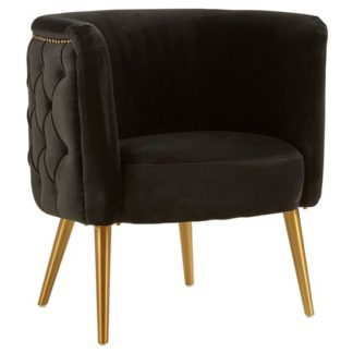 An Image of Intercrus Fabric Tub Chair In Black