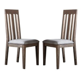 An Image of Cookham Wooden Oak Dining Chair In Pair