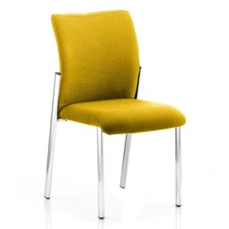 An Image of Academy Fabric Back Visitor Chair In Senna Yellow No Arms