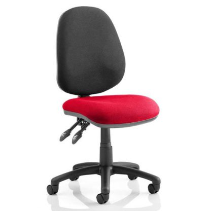 An Image of Luna II Black Back Office Chair In Bergamot Cherry
