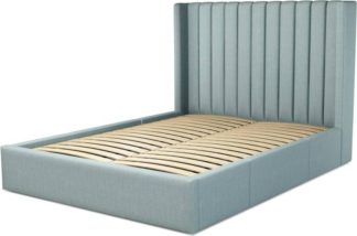 An Image of Custom MADE Cory King size Bed with Drawers, Sea Green Cotton