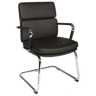 An Image of Deco Visitor Retro Eames Style Black Chair