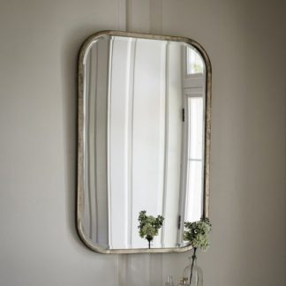 An Image of Malcolm Rectangular Wall Mirror With Metal Frame