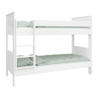 An Image of Alba Wooden Children Bunk Bed In White