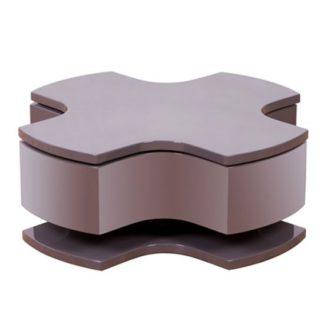An Image of Optima Taupe High Gloss Motion Coffee Table