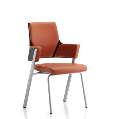 An Image of Cooper Visitor Office Chair In Tan Bonded Leather